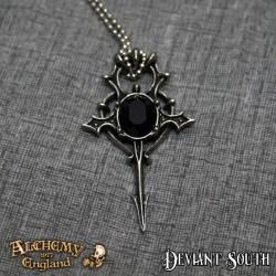 Alchemy Gothic P702 Herz Leben - Black Swarovski Crystal