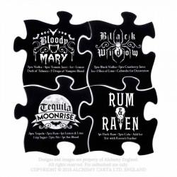 New Release! Alchemy Gothic CJ1 Gothic Cocktail Jigsaw Coasters (4 piece)