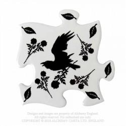 New Release! Alchemy Gothic CJ5 Black Raven & Rose Jigsaw Coasters (4 piece)