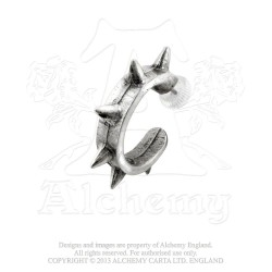Alchemy Gothic E221 Spike Cuff Single Stud Earring