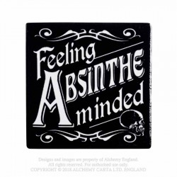 New Release! Alchemy Gothic CC4 Feeling Absinthe Minded Individual Ceramic Coaster