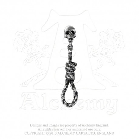 Alchemy Gothic E256 Hang Man's Noose Single Stud Earring