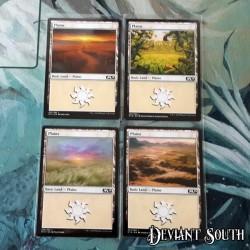 MTG Singles - Core Set 2019 - Basic Lands - Plains (4 cards)