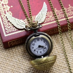 [On Demand] Harry Potter Golden Snitch Bronze Fob Pocket Watch