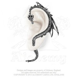 Best Seller! Alchemy Gothic E274L Dragon's Lure Left Stud Ear-Wrap (left)