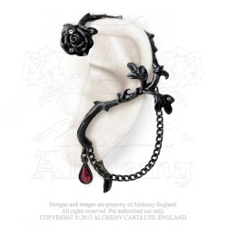 Alchemy Gothic E276 Rose of Passion Ear-wrap
