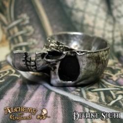 Alchemy Gothic V60 Half Skull Trinket Dish