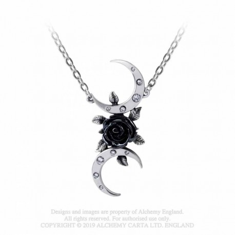 New Release! Alchemy Gothic P870 The Black Goddess necklace