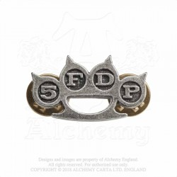Alchemy Gothic PC507 5FDP: Knuckle Duster pin badge brooch