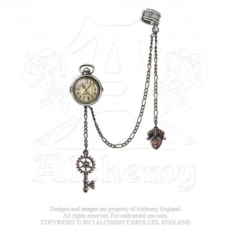 Best Seller! Alchemy Gothic Uncle E349 Albert's Timepiece Cuff Stud Earring (single)