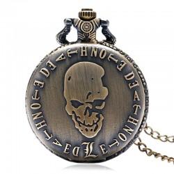 Death Note Round Bronze Pocket Watch necklace