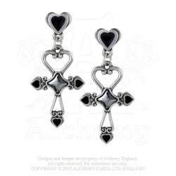 Alchemy Gothic E354 Amourankh Stud Earrings
