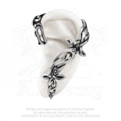 Alchemy Gothic E361 Osberg Dragon Stud Ear-Wrap (left)