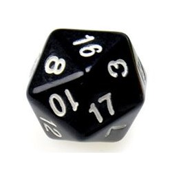 Gaming Die 20 Sided D20 - Black