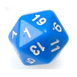 Gaming Die 20 Sided D20 - Blue