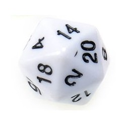 Gaming Die 20 Sided D20 - White