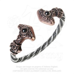 Alchemy Gothic A107 Thunder Torque pewter bangle