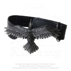 Alchemy Gothic A109 Black Consort leather wrist strap