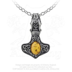 Alchemy Gothic P728 Amber Dragon Thorhammer